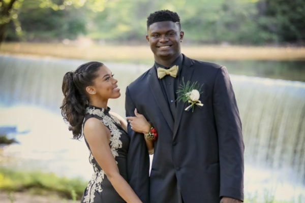 Zion Williamson with sweet, Girlfriend Tiana White