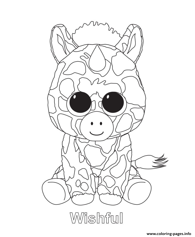Wishful Beanie Boo Coloring Pages Beanie Boo Birthdays Beanie Boo Party Beanie Boo