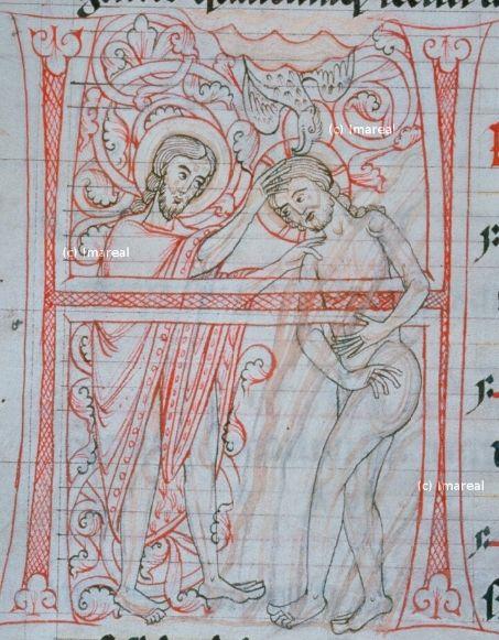 Taufe Jesu Antiphonar 1200 1300 At Heiligenkreuz Stb Cod