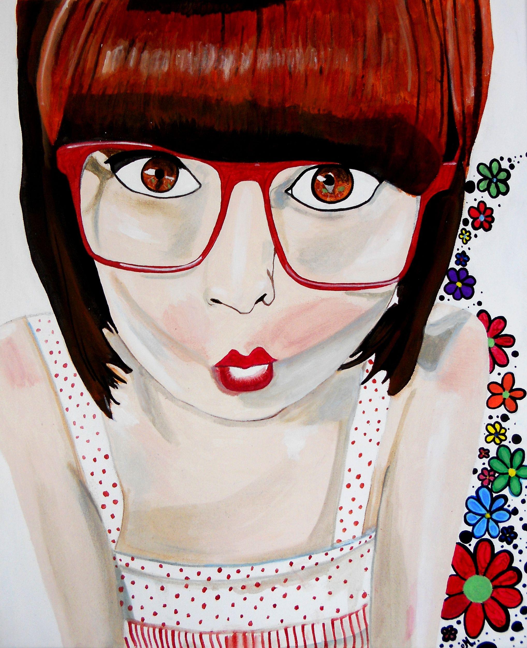 tableau art artiste femme pop manga retro rouge blanc design art tableau pinterest art. Black Bedroom Furniture Sets. Home Design Ideas