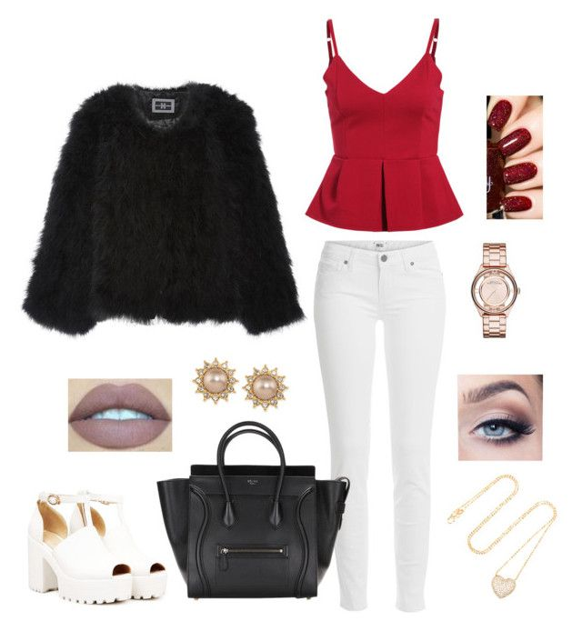 """Xmas outfit"" by caaaazz ❤ liked on Polyvore featuring Helen Yarmak, Paige Denim, Marc by Marc Jacobs, Carolee and Anita Ko"