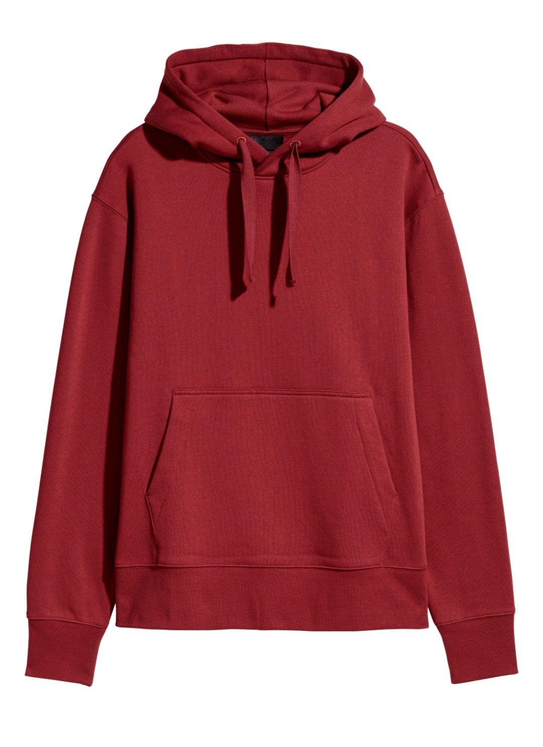 b76b89bdc H&M dark red hoodie | My Tops | Hooded sweatshirts, Sweatshirts, Fashion