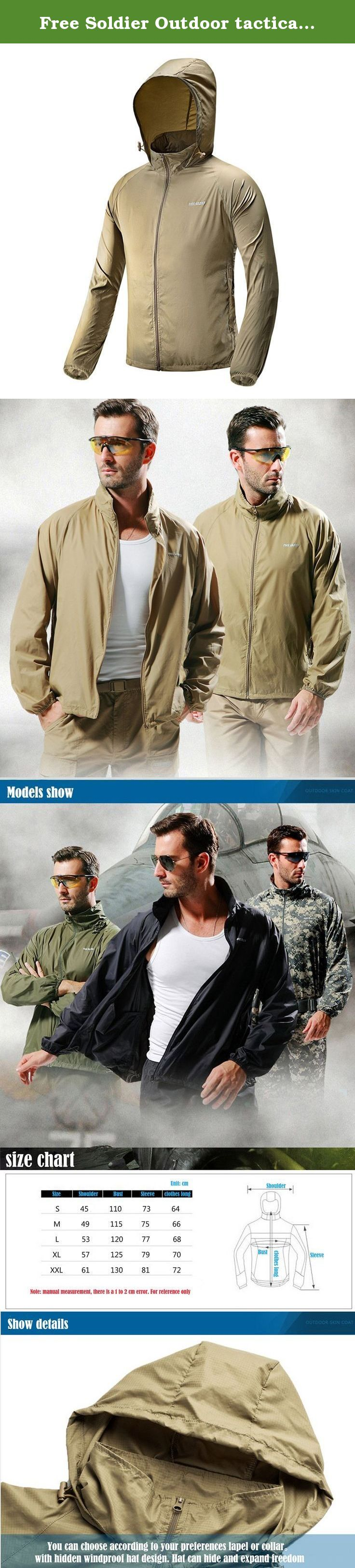 Free soldier outdoor tactical skin coat ultralight and