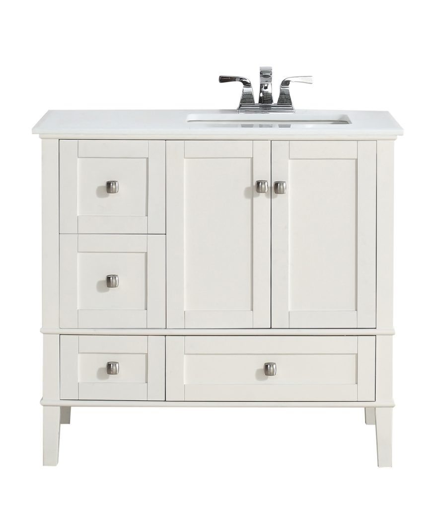 36 inch bathroom vanity with drawers on right | bath rugs