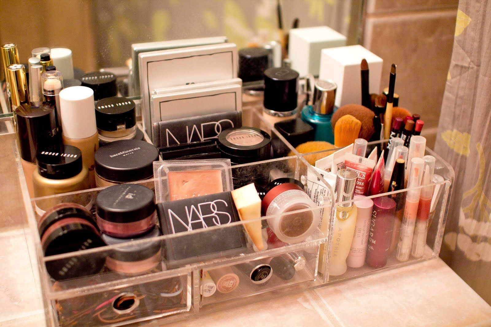 Makeup Organizer Countertop Bad Inspiration Box Drawer Diy Storage
