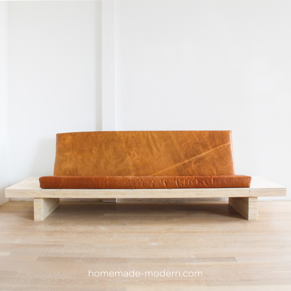 This Diy Modern Plywood Sofa Is Made Out Of 2 1 2 Sheets Of Plywood From Home Depot Full Instructions Can Be Found At H In 2020 Diy Sofa Diy Couch Homemade Modern