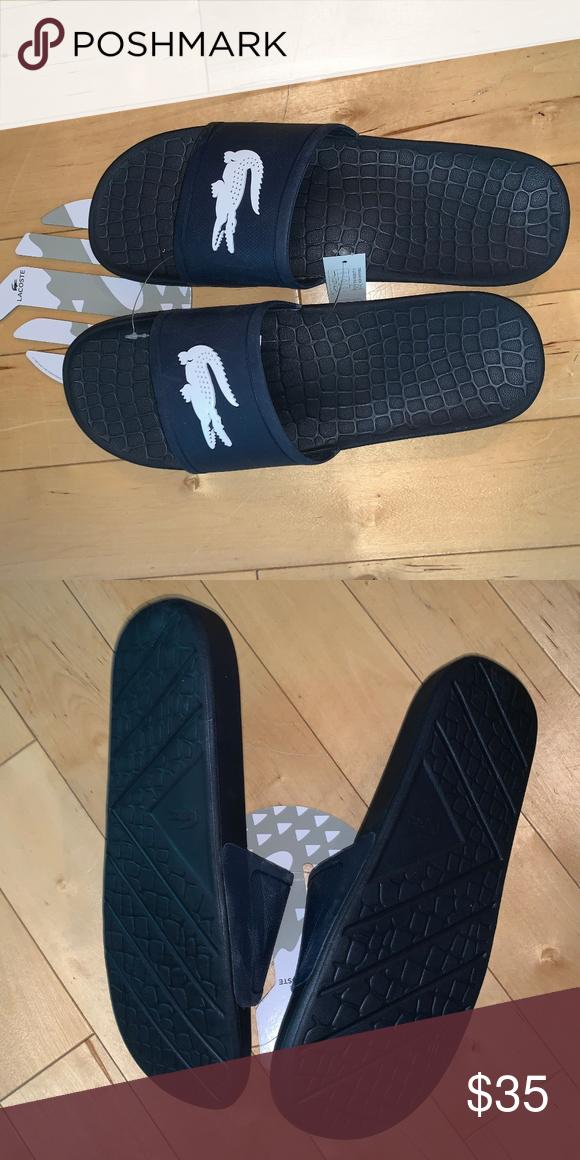 Lacoste Croc Men's Sandals Slides Blue