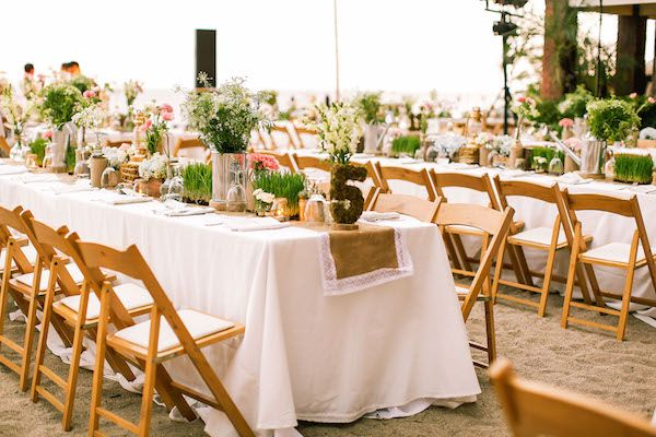 Gorgeous Glamping Boho Beach WeddingBeach