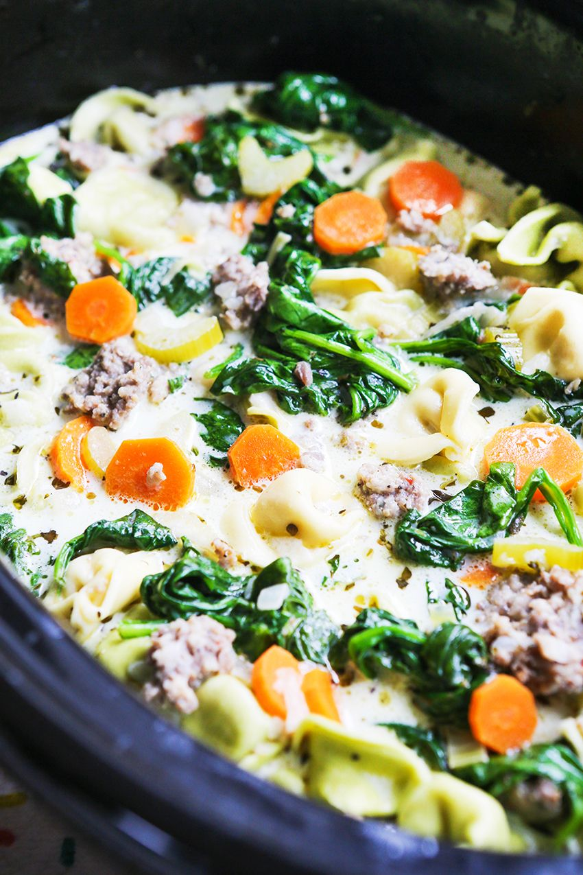 Easy creamy tortellini soup recipe with images
