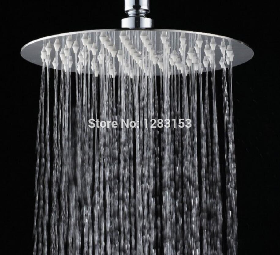 8/'/' Square Stainless Steel Rain Shower Head Rainfall Bathroom Top Sprayer New US