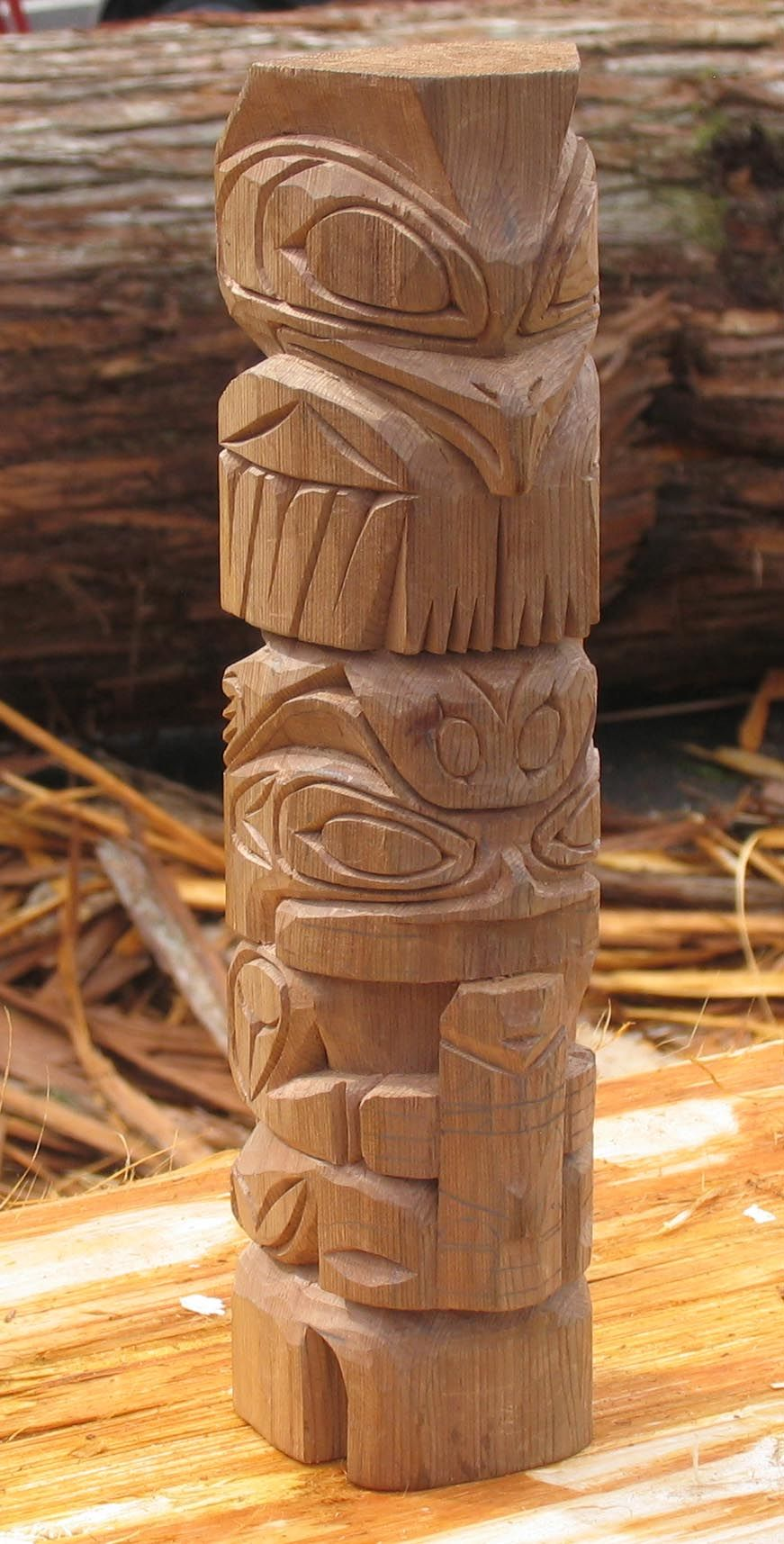 wooden totem pole - Google Search | Wooden ethnic ...