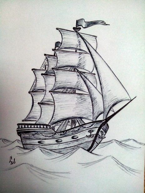 Geniales Imagenes De Dibujos A Lapiz Dibujos Sombreados A Lapiz Como Dibujar Tatuajes Dibujo De Barco
