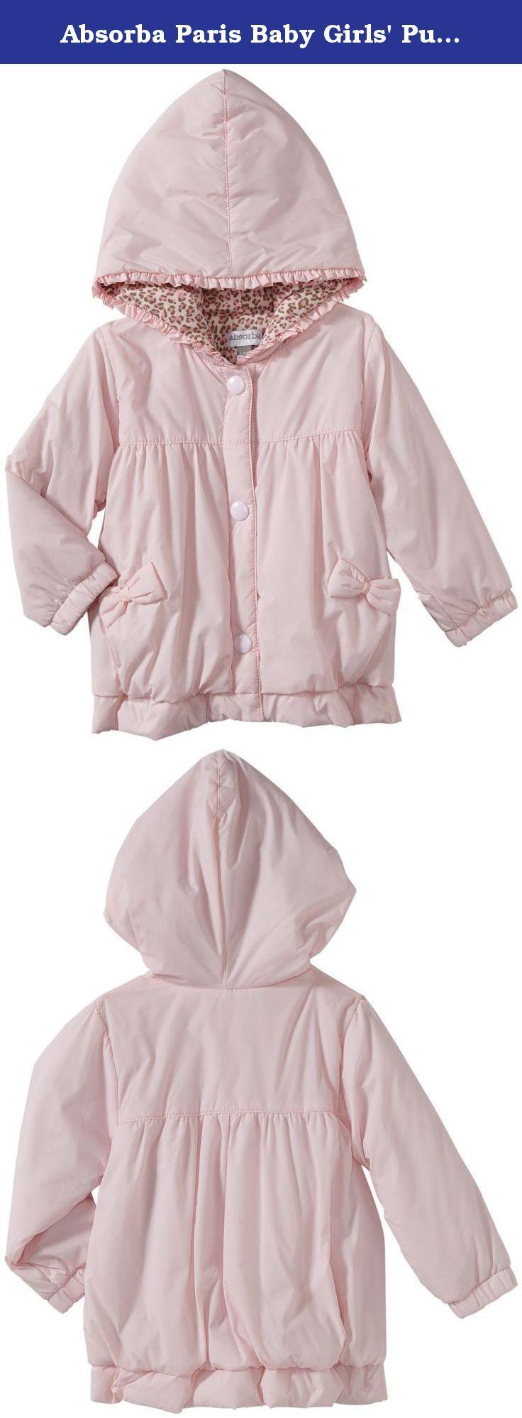 Absorba Paris Baby Girls Puffer Jacket Baby Pink 6 9 Months Absorba Paris Puffer Jacket Baby Pink A Newb Girls Puffer Jacket Newborn Girl Baby Pink [ 1997 x 736 Pixel ]