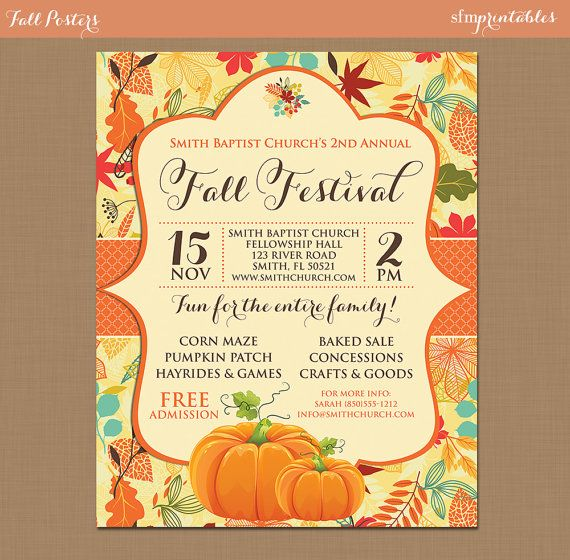 fall festival invitation template