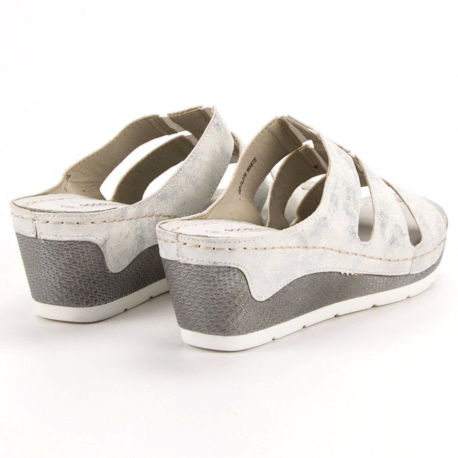 Goodin Klapki Na Koturnie Biale Shoes Sneakers Fashion