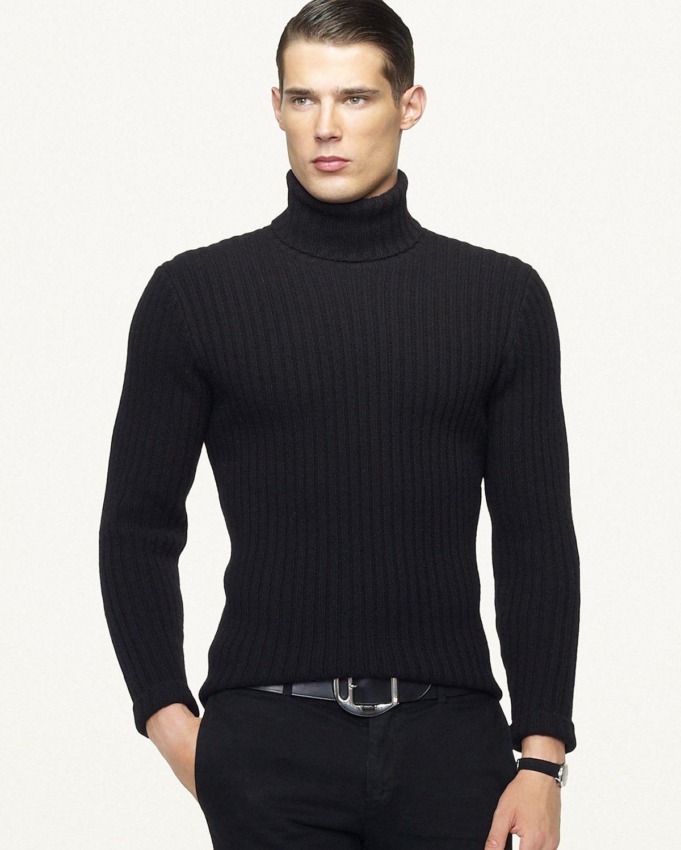 Black men's turtleneck sweater | Clothes | Pinterest
