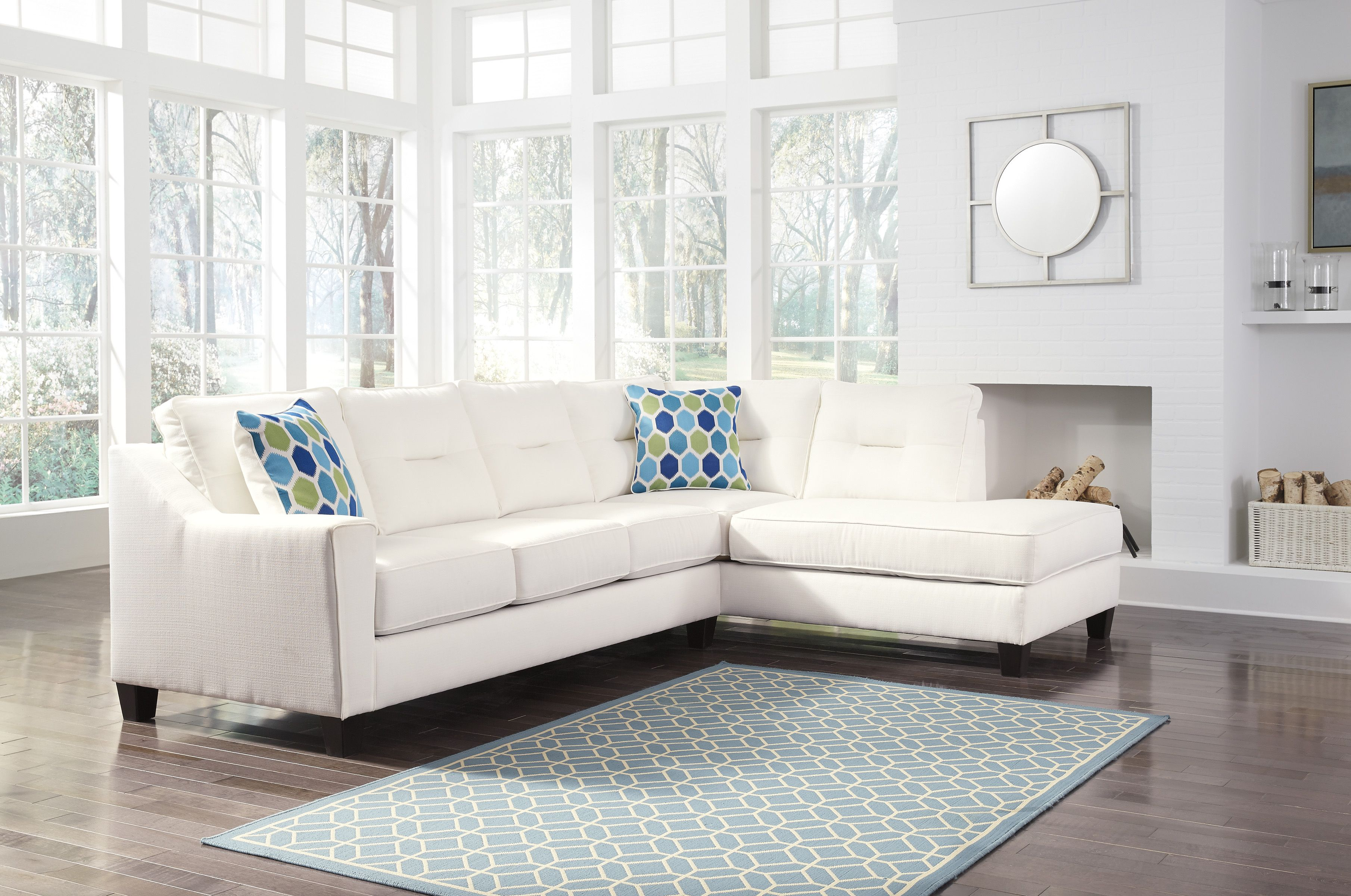 Peachy Kirwin Nuvella 99604 17 By Ashley Sectional Sofa Home Interior And Landscaping Palasignezvosmurscom