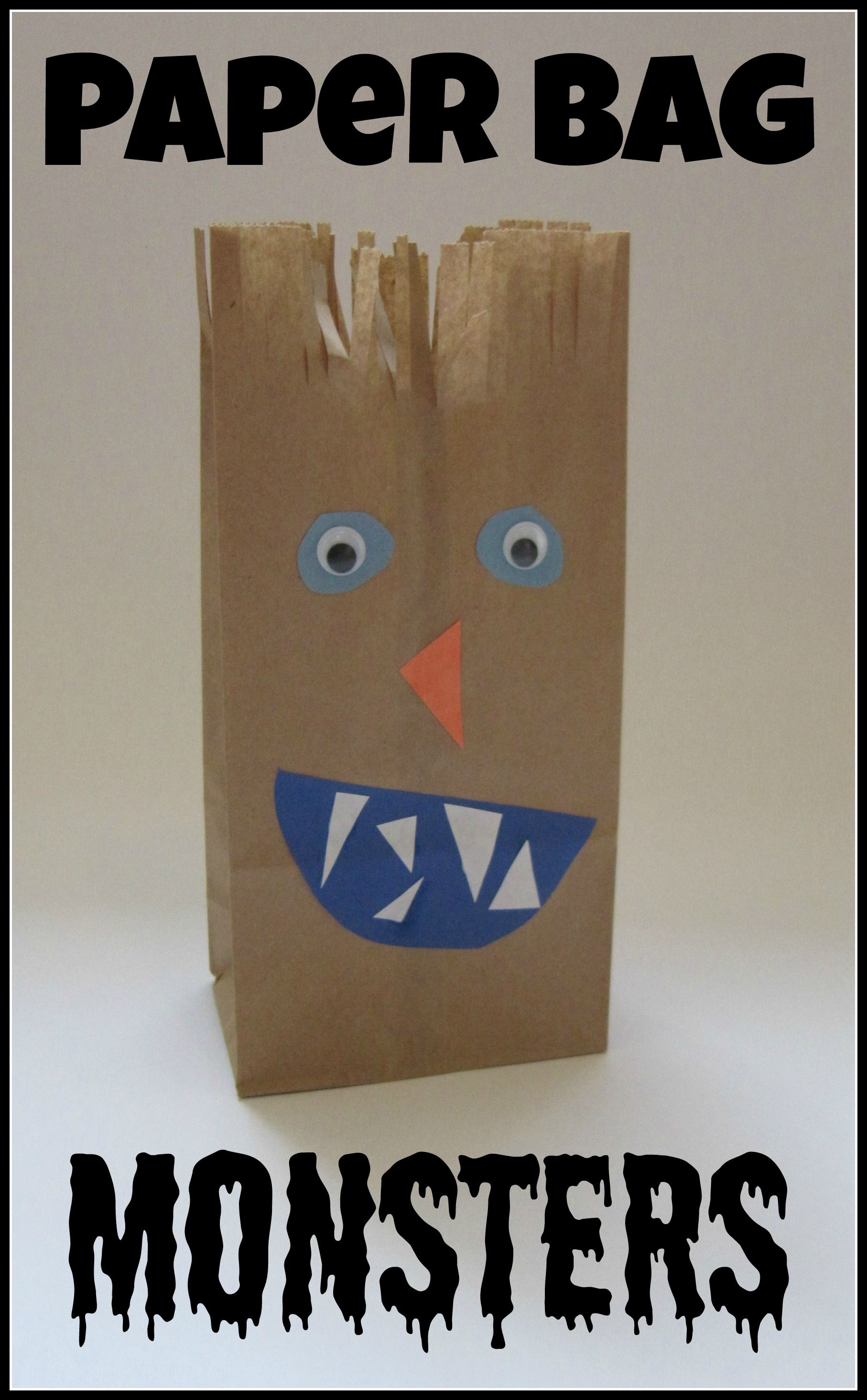 Cut Hole In Mouth Play Gobble Up ABC Paper Bag Monsters