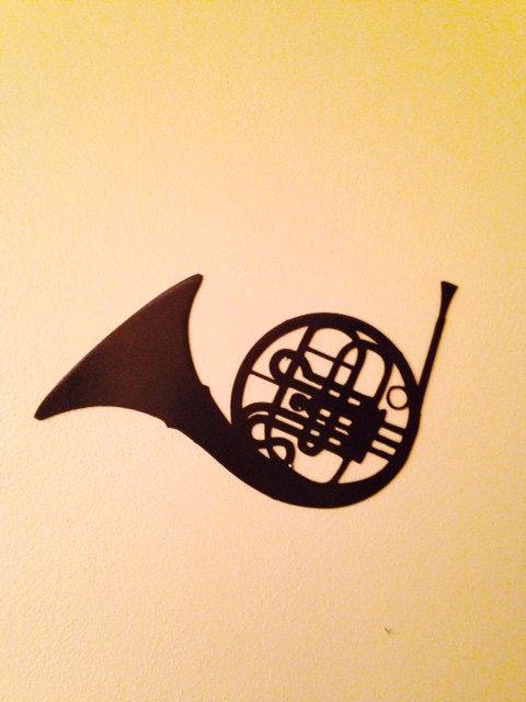 French Horn Musical Metal Sign/Wall Art by GCInnovations on Etsy ...