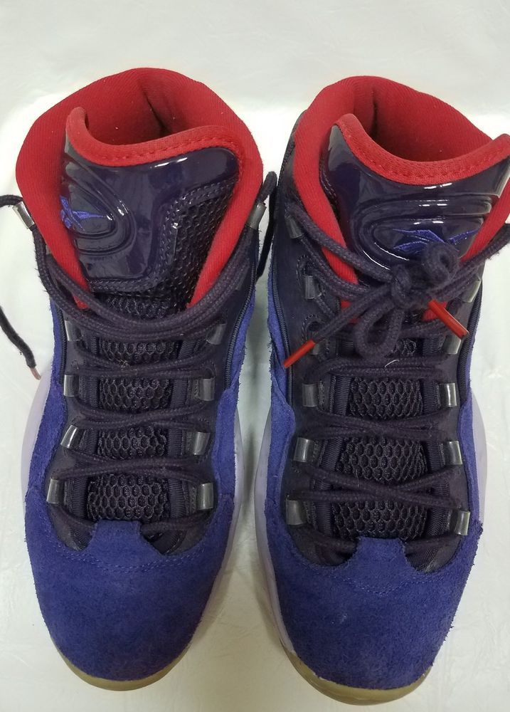 7ebefec51fadf7 Reebok Question Mid Purple I3 Allen Iverson Vintage Mens Basketball Shoes  V61429  Reebok  BasketballShoes