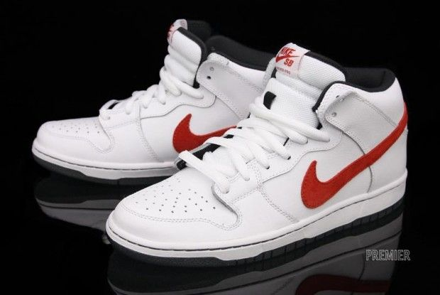 pretty nice 21d13 7a2b8 Nike SB Dunk Mid Pro White Red