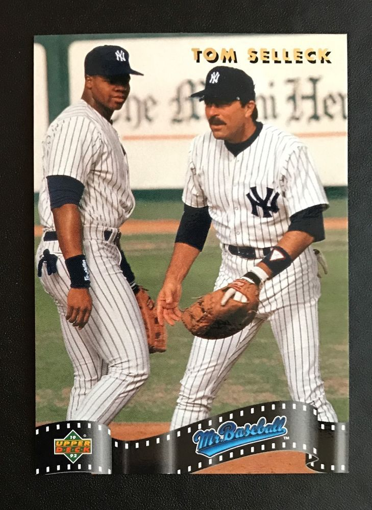 1992 Upper Deck Tom Selleck Sp4 Mr Baseball Insert Mlb Card Ny Yankees Mint Sports Mem Cards Fan Shop S Baseball Cards Tom Selleck Blue Bloods Baseball
