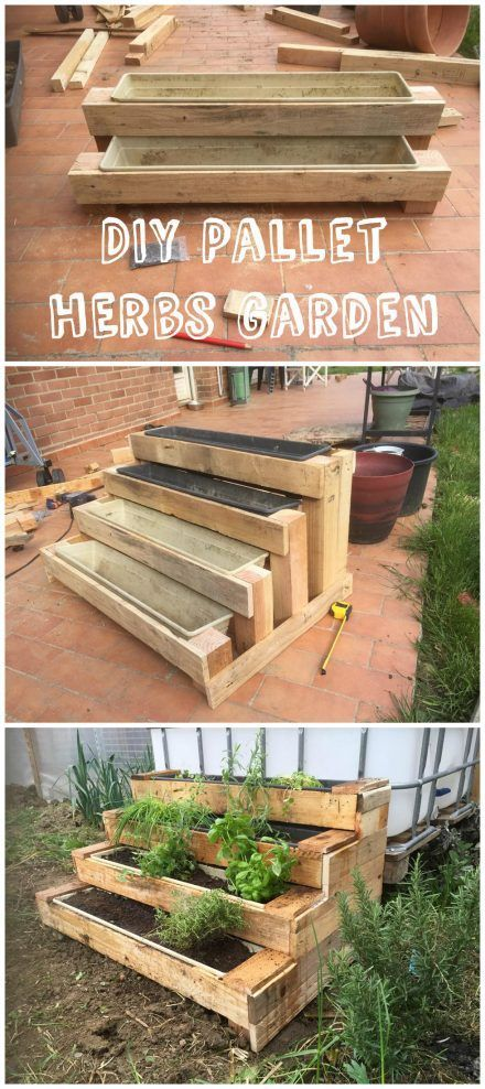 Info's : Diy: Pallet Stairs Planter