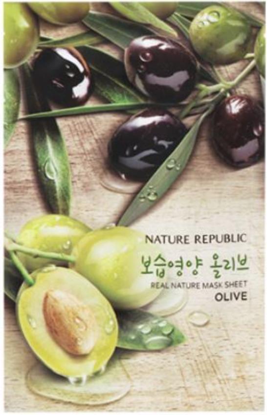 Berühmt Nature Republic Olive Real Nature Mask Sheet - 23ml Pflege #JV_58