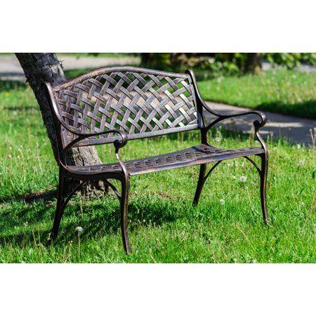 Fabulous Garden Bench Bronze Color Lattice Design 40 Inch Long Ibusinesslaw Wood Chair Design Ideas Ibusinesslaworg