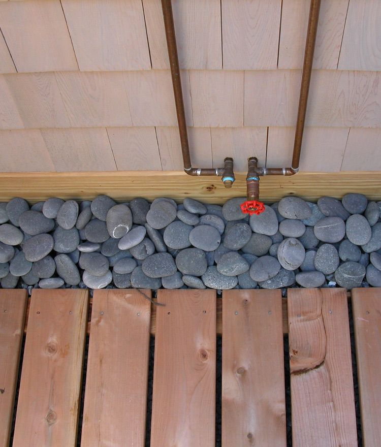 Beach Pebbles Outdoor Shower Enclosure Outdoor Shower Kits