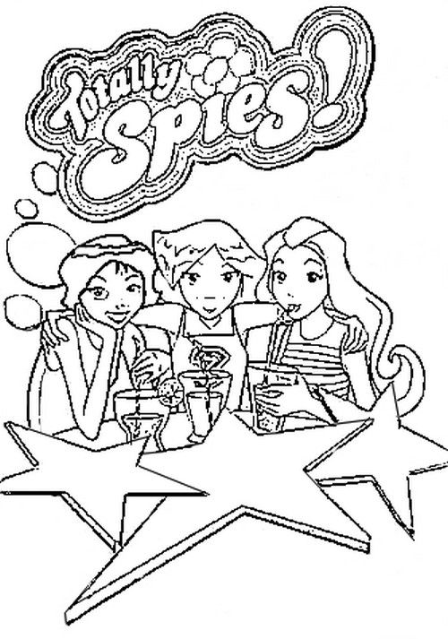 Totally Spies Coloriages A Imprimer Colorier Coloriages1001 Fr Coloriage Totally Spies Coloriage Coloriage A Imprimer