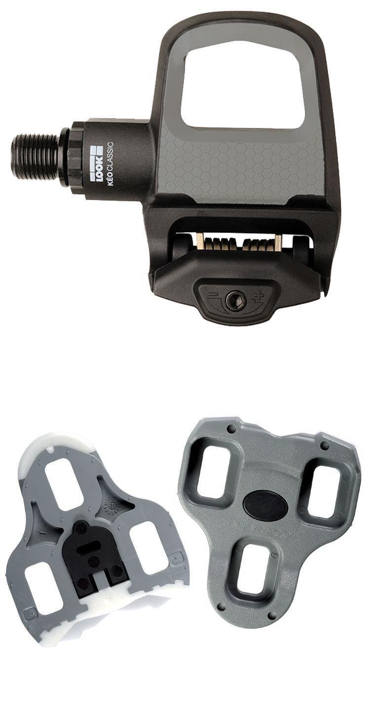 4feefc6ea1d Pedals 36137: Look Keo Classic 2 Road Bike Clipless Pedals Pair (Black/Grey
