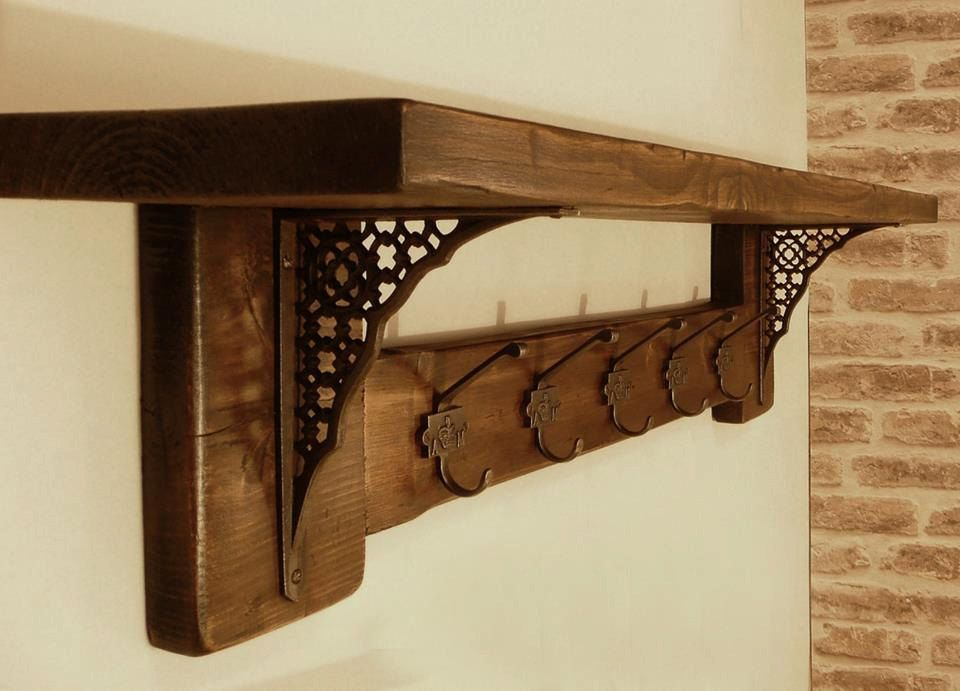 Rustic Wall Mounted Coat Rack By Jetoriarts On Etsy Https Www