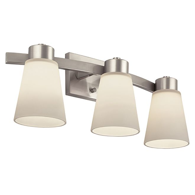 Style Selections Bathroom Wall Sconce Steel 3 Lights