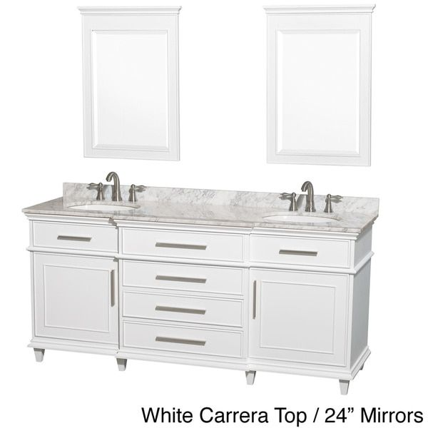 Gallery For Photographers Wyndham Collection Berkeley inch White Double Bathroom Vanity