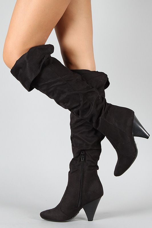 5c08a8fc091 Bamboo Trinity-21 Cuff Thigh High Boot... i need these. they are only  25.90