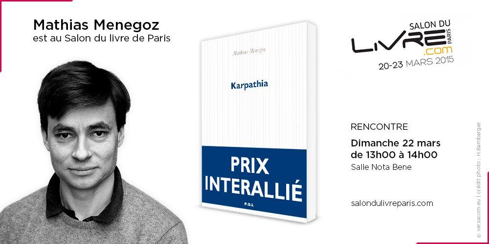 Lauréat du prix Interallié, Mathias Menegoz est au #SDL2015 !