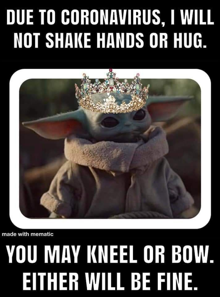 And Not A Kiss On The Hand In 2020 Yoda Meme Yoda Funny Funny Relatable Memes