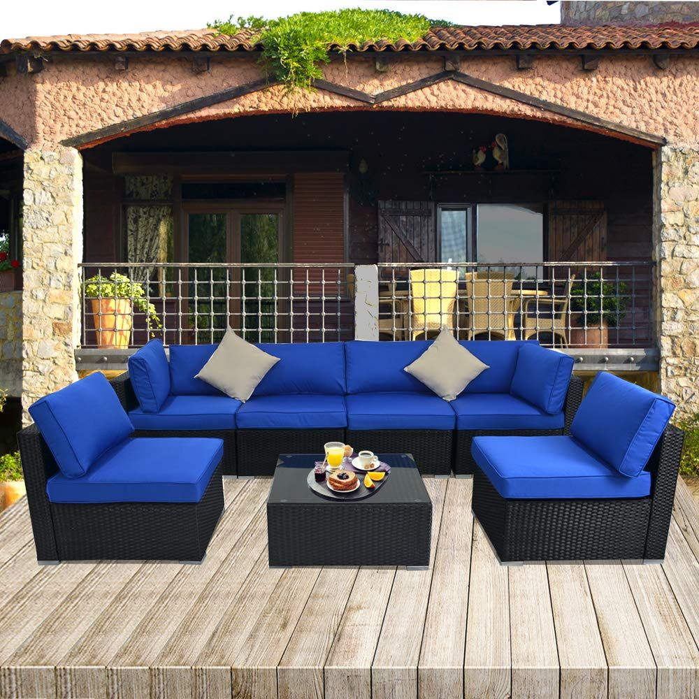 Sectional Conversation Sofa Free Rain Cover Lawn Garden Patio