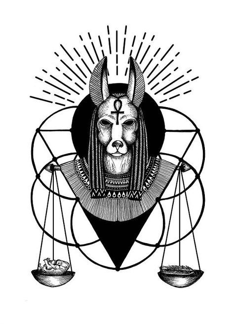 Anubis Print, Gothic Home Decor, Egyptian Mythology, Gothic Art, Dark Art, Gothic Gift, Tattoo, Halloween, Occult, Macabre Art, A5, A4, A3