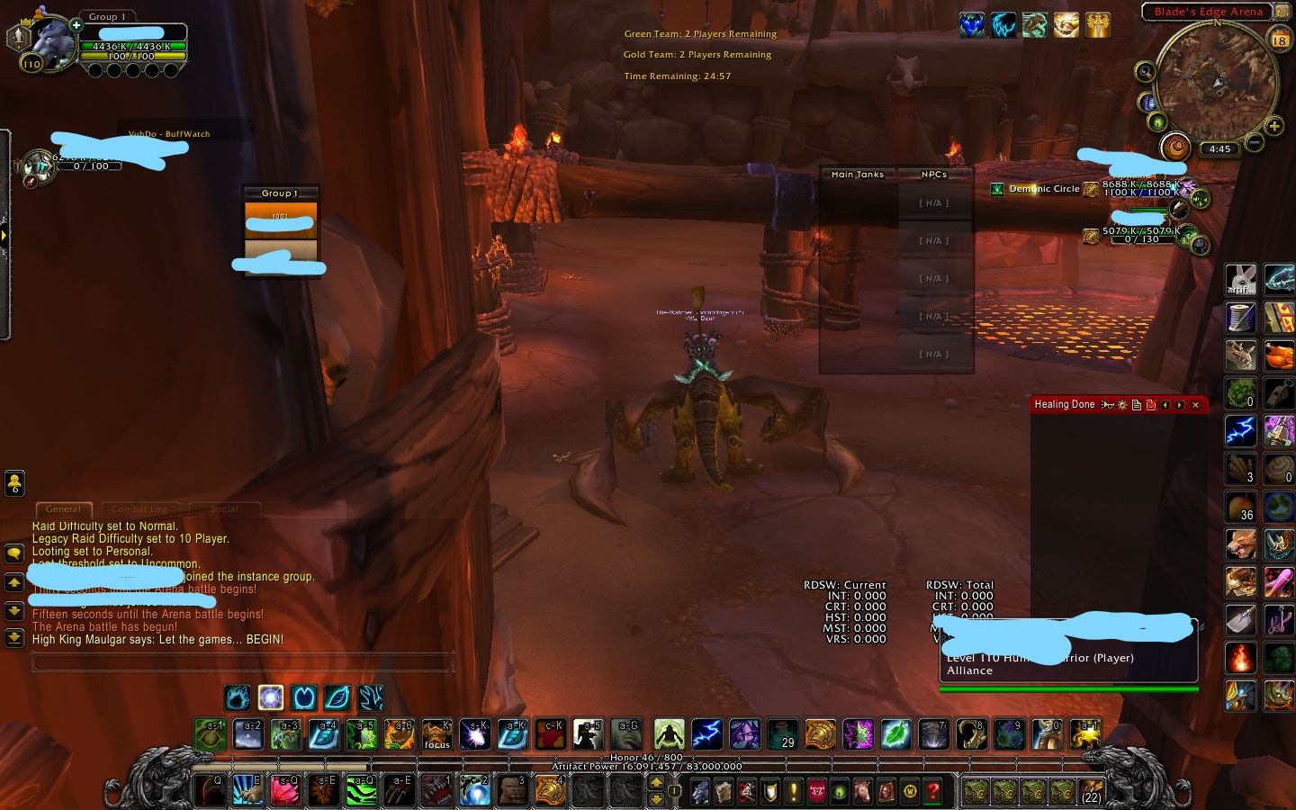 My opponents keep having ridiculous health in arena today. This is the only screenshot I took but there was also 10m fury warrior 7m priests mages and hunter. #worldofwarcraft #blizzard #Hearthstone #wow #Warcraft #BlizzardCS #gaming