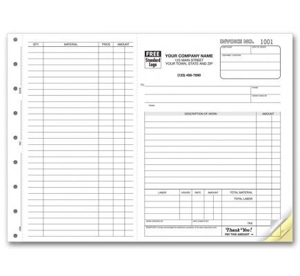 Carbonless Job Invoice Forms Printable Invoice Invoice Template Create Your Own Business