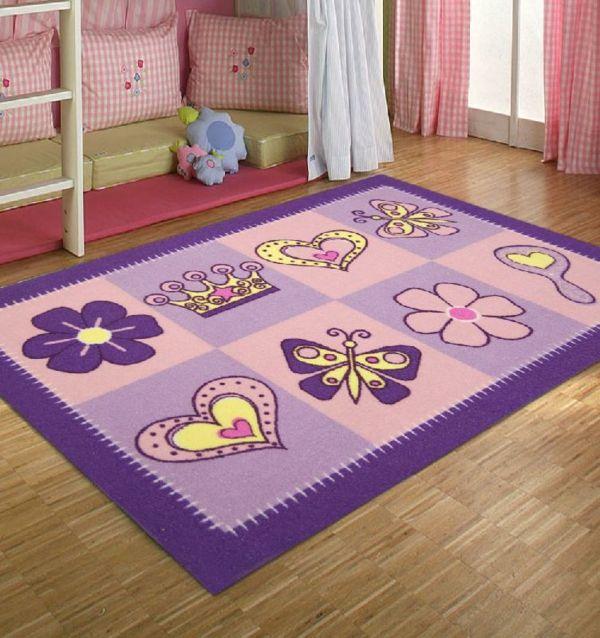 lila teppich für kinderzimmer - neben dem bett   Unbedingt kaufen ...