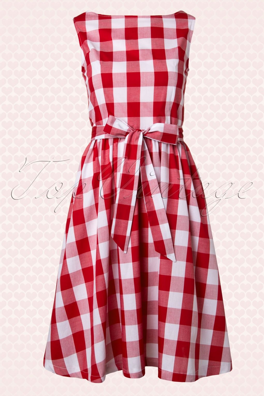 df17b0aa51 Lindy Bop - 50s Audrey Picnic Swing Dress in Red And White