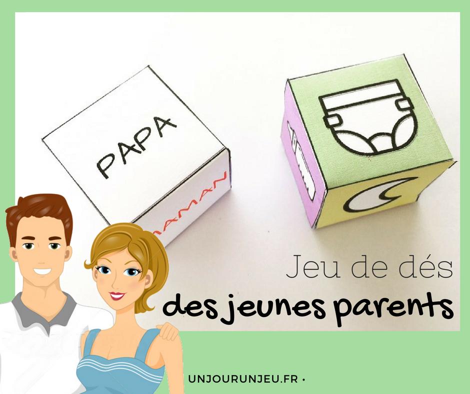 Le Jeu De Des Des Jeunes Parents A Telecharger Gratuitement Cadeau Future Maman Cadeaux Jeune Papa Cadeaux Jeune Maman