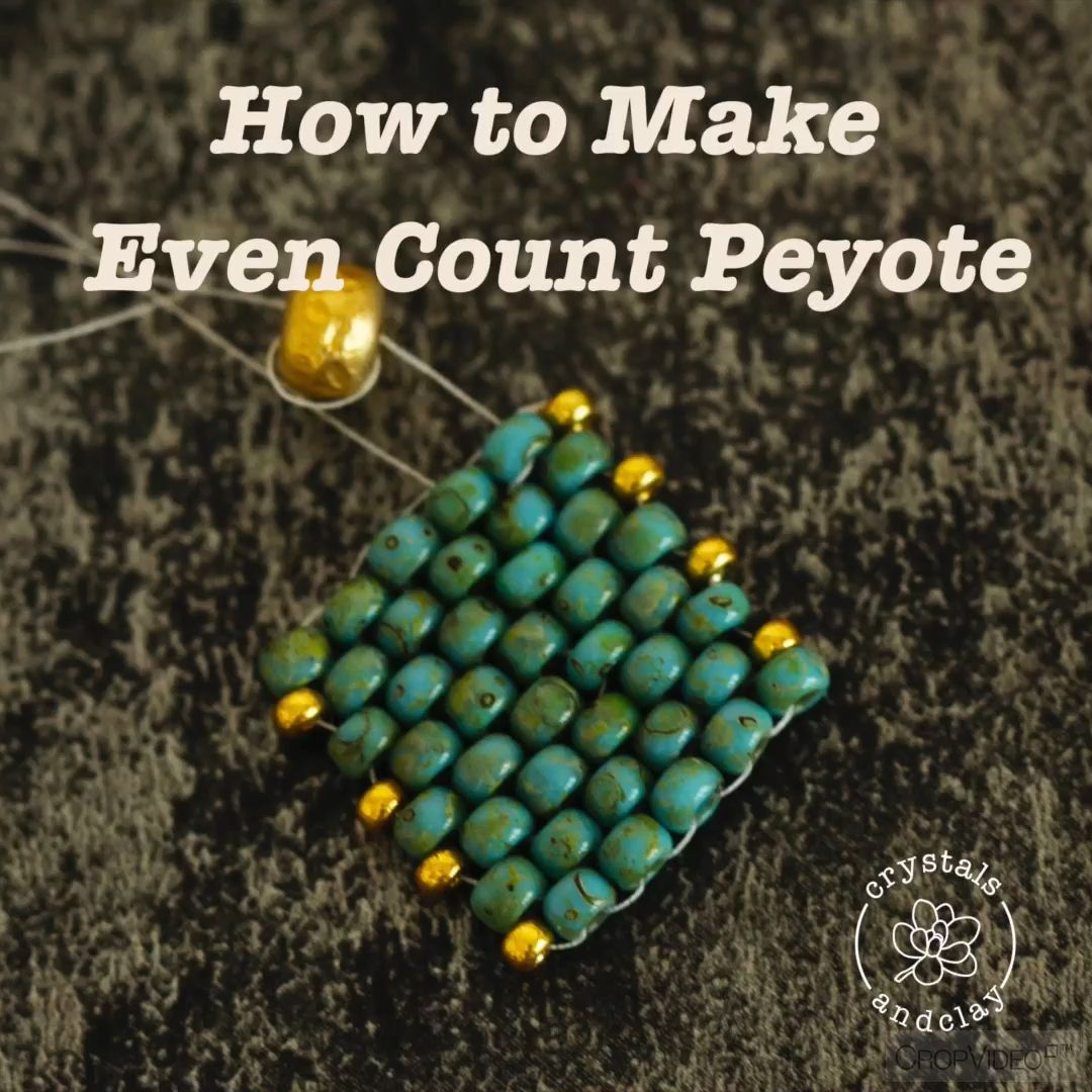 Photo of How to make even count peyote beading stitch