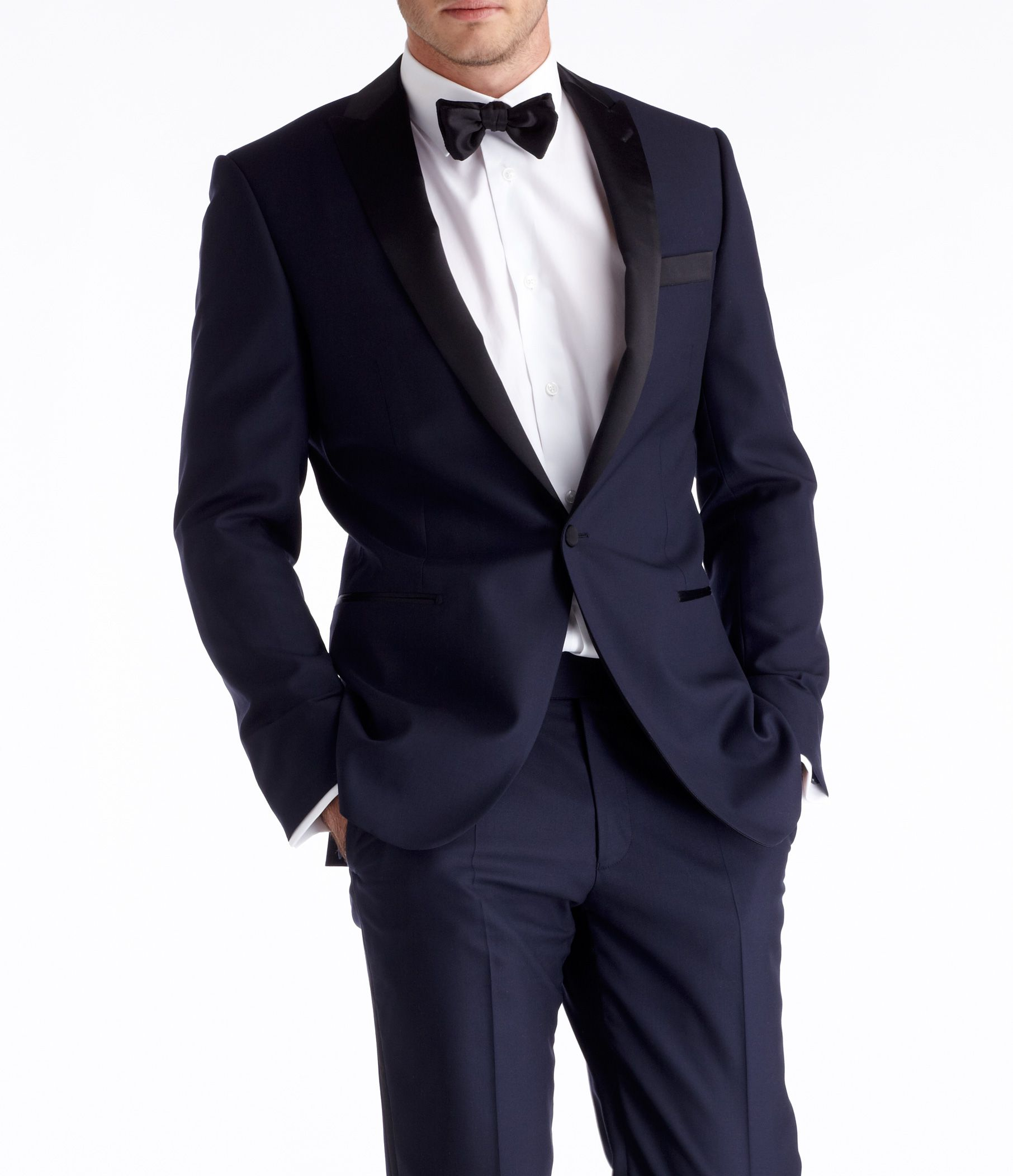 Wedding Attire Rental: Midnight Blue Tuxedo
