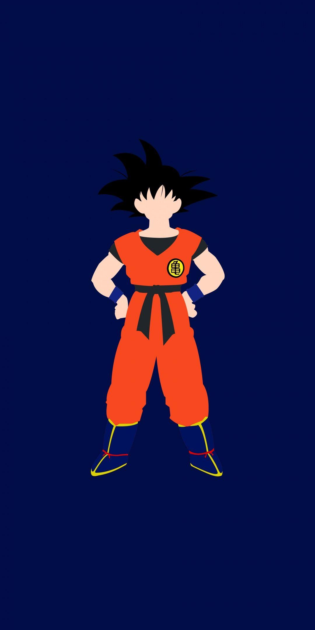 Minimal Goku Dragon Ball Art 1080x2160 Wallpaper Iron Man Art Goku Art Dragon Ball