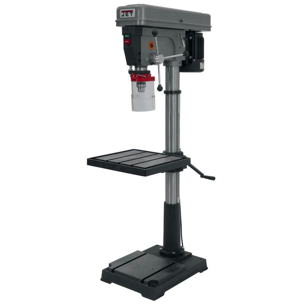 Jet 1 HP 20 in  Floor Standing Drill Press, 12-Speed, 115