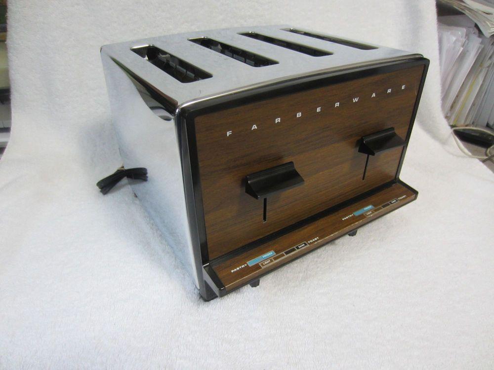Vintage Farberware 4 Slice Chrome Toaster Mod 295 Looks Works Great Usa Made